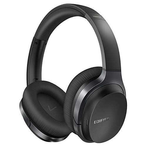 Edifier W860NB Wireless Active Noise Cancelling Headphones with Microphone Hybrid ANC Bluetooth Earphones with Touch Control for TV Computer Cellphones