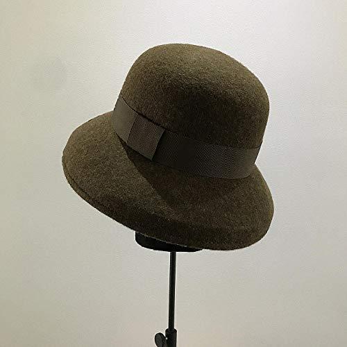 capswhh 2019 herfst en winter wol stijl tij vrouwelijke elegante wilde bassin cap visser hoed lampenkap vilt hoed