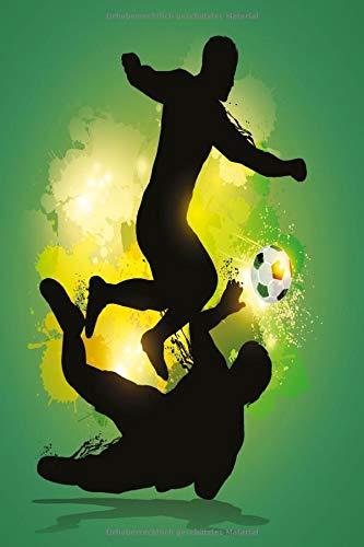 Fußabllspieler Fantasy 2 Notizbuch: Teamgeist Fitness Bullet Journal 120 Dotted Punkteraster Seiten Din A5