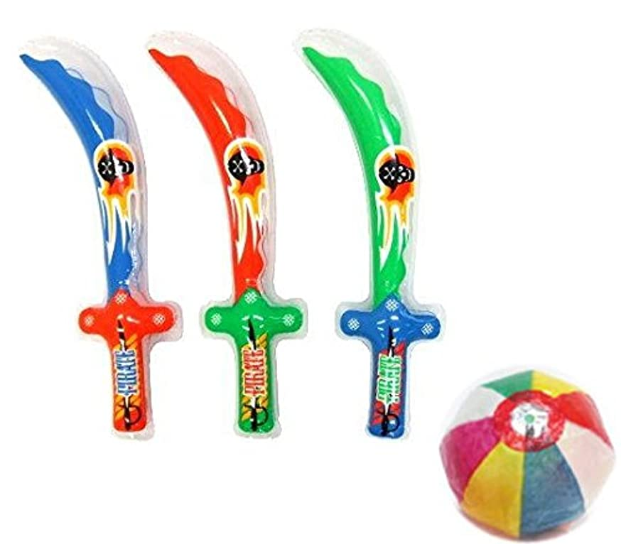 カップル二層マルコポーロ【ビニール玩具】 NEWパイレーツ剣?S(25個入)  / お楽しみグッズ(紙風船)付きセット