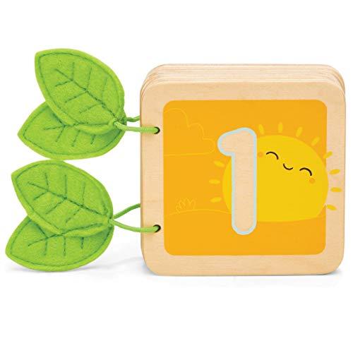 Le Toy Van- Libro de Contador de Madera 1-10 para reconocimiento de números, Color Desarrollo lingüístico (PL114)