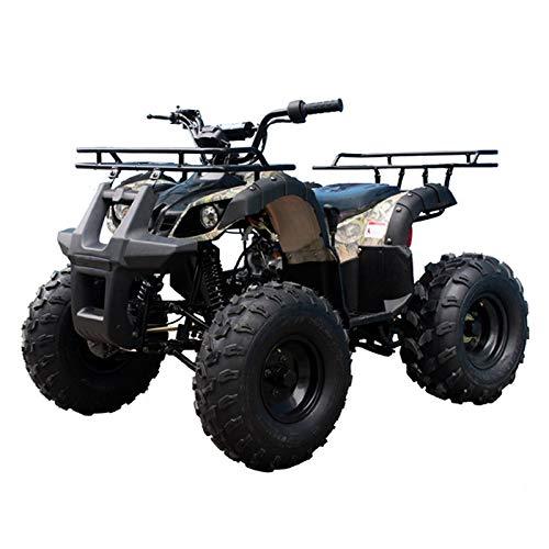 125cc ATV 4 Wheels Wheelers Quad 125 ATV Quads with LED Lights, Big 19'' Tires (Tree Camo)