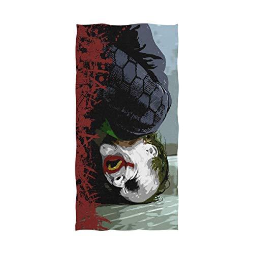 Jesse Tobias Toalla de baño Clown-Joker Toalla de Playa de Gran tamaño Uso como Yoga Viaje Camping Gimnasio Toallas de Piscina en Carro de Playa Sillas de Playa TWL-2029