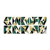 Adhesivo decorativo para azulejos de pared con diseño de geometría verde para decorar paredes de habitaciones