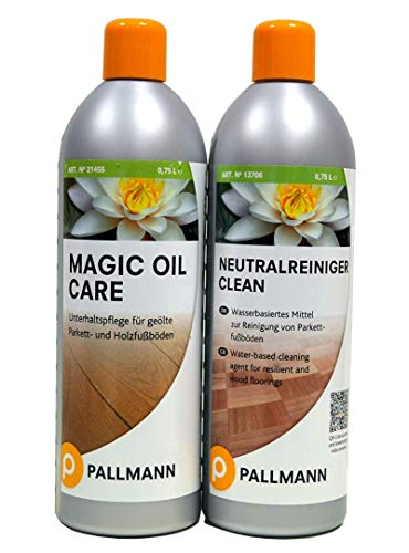 Pallmann AB.Bauconcept GbR© Kombiangebot Neutralreiniger und Magic Oil Care jeweils 0,75 L