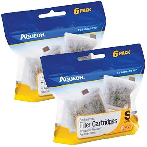 Aqueon 06417 Cartouche de Filtre, Petite, 6-Pack, Small, 12-Pack