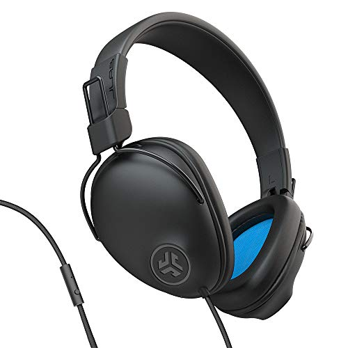 JLab Audio Studio Pro Over-Ear Headphones | Wired Headphones | Tangle Free Cord | Ultra-Plush Faux Leather with Cloud Foam Cushions | 40mm Neodymium Drivers with C3 Sound | Black