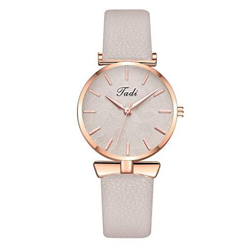 JZDH Relojes para Mujer Relojes de Mujer Elegante Minimalista Calendario Cinturón de Malla de cinturón de Mujer Reloj de Cuarzo Relojes Decorativos Casuales para Niñas Damas (Color : Pink)