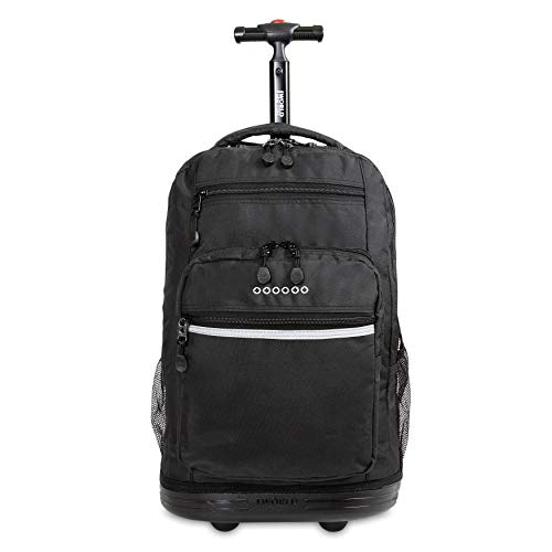 J World New York Sundance Laptop Rolling Backpack, Black, One Size