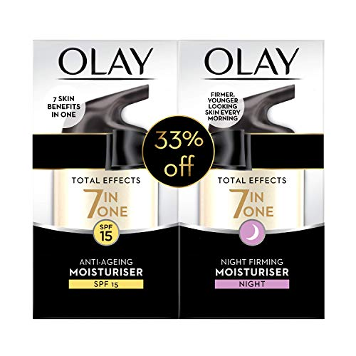 Olay Face Moisturizer Total Effects: Anti-Aging Day Cream, 50g + Firming Night Cream, 50g