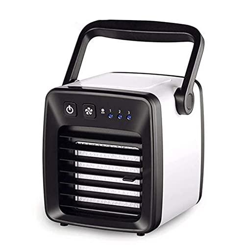 Gamvdout Oficina en casa Mini acondicionador de Aire Ventilador de refrigerador Dormitorio pequeño Aire Acondicionado de Escritorio Oficina de Escritorio Portátil Silent Air Cooler Duradero
