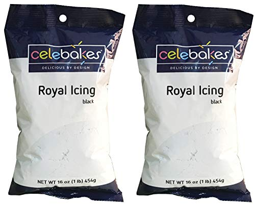 CK Products Celebakes Royal Icing Mix 1 Pound - Pack of 2 (Black)