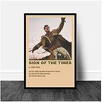 ウォールアートモジュラーシンガーキャンバス写真タイムズのサインホームデコレーションハリースタイルズ絵画プリントポスターアートワークリビングルーム-50x70cmx1pcs-フレームなし