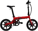 Bicicleta Eléctrica Bicicletas eléctricas plegables de 16 pulgadas, bicicletas inteligentes de aleación de aluminio LCD Instrumento de cristal líquido ACS Sistema de crucero al aire libre Ciclismo de