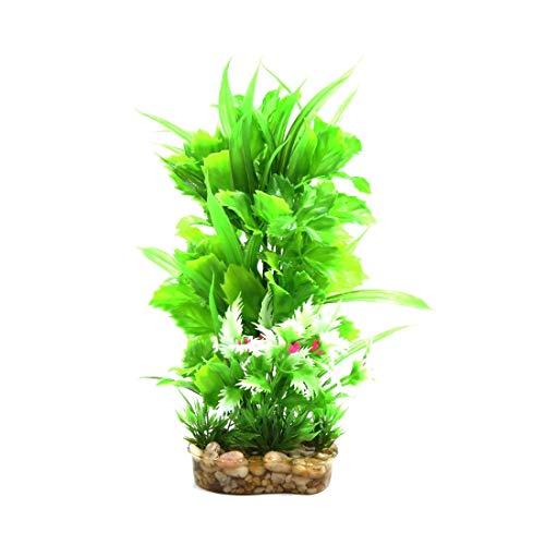 Allamp Acuario plástico del Tanque terrario Decorativo Planta Hábitat Decoración for Reptiles y Anfibios Flores Artificiales