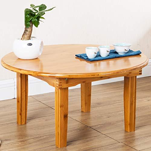 Lzz Table Pliante Ronde en Bois Massif Loisirs Après-midi Simple canapé thé Petite Table Apprentissage Table Informatique Petite Table (Taille : 70 * 27cm)
