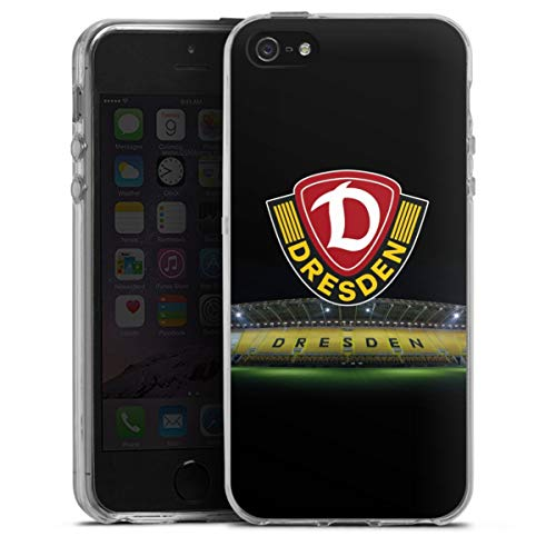 Silikon Hülle kompatibel mit Apple iPhone SE Case transparent Handyhülle SG Dynamo Dresden Stadion SGD
