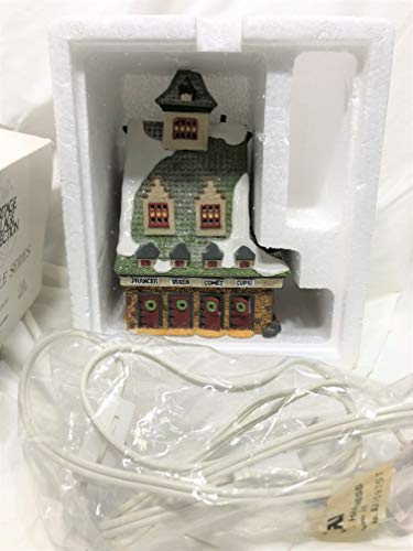Dept 56 North Pole Collection Reindeer Barn-1990#5601-4 Retired