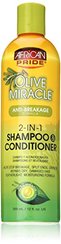 AFRiCAN PRIDE OLIVE MIRACLE 2-IN-1 SHAMPOO&COND.12oz