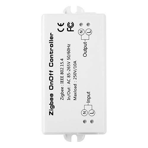 OWSOO Smart-Schalter 10A ZigBee EIN/Aus-Controller APP Fernbedienung Intelligent Home-Modul Licht Dimmer-Controller ZigBee Bridge Hub AC85-265V