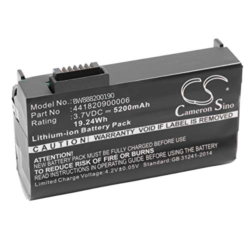 vhbw Akku passend für Getac PS236, PS336 Handheld Computer Scanner (5200mAh, 3.7V, Li-Ion)