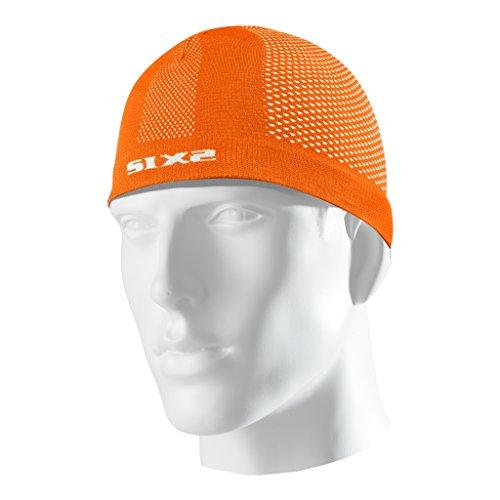 Six2 Calotta sottocasco Orange Fluo-Unica, Unisex Adulto, One Size
