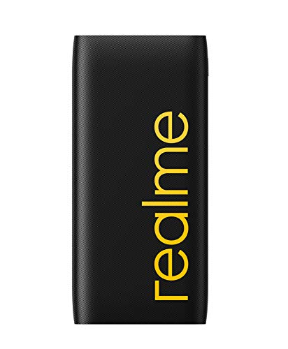 realme 10000mAh 12W Quick Charge Li-Polymer Power Bank 2i (Black), Slim Design, Dual Input Ports (Without Cable)