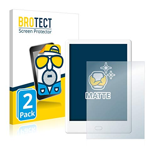BROTECT MATTE Anti-Glare Screen Protector compatible with Boyue Likebook Mars 2 Pack Anti-Fingerprint Protection Film