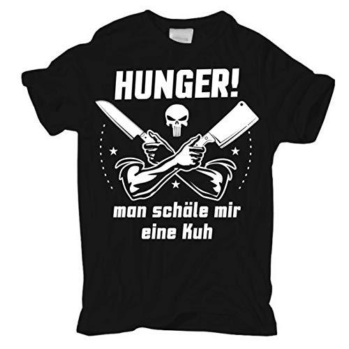 Spaß kostet Männer und Herren Tshirt Hunger Man schäle Mir eine Kuh Größe S - 4XL