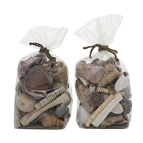 Home Collection Potpourri Streu 2er Set sort. braun weiß Natur Deko Treibholz Schwamm Zapfen