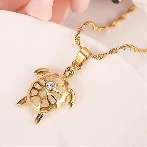FACAIBA Necklace Eagle Pendant Necklace for Men/Women 24k Yellow Gold Color Fashion Animal Jewelry Necklace