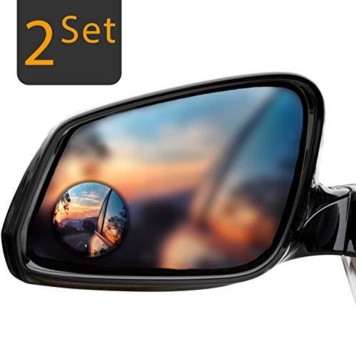 innoGadgets Auto Toter Winkel Spiegel und Weit-Winkel Spiegel konvex und verstellbar - 50mm Durchmesser, 2-Set