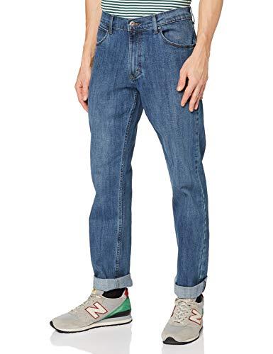 Wrangler Authentic Regular Jeans, Blu (Blu Mid Stone 14V), 44W / 32L Uomo
