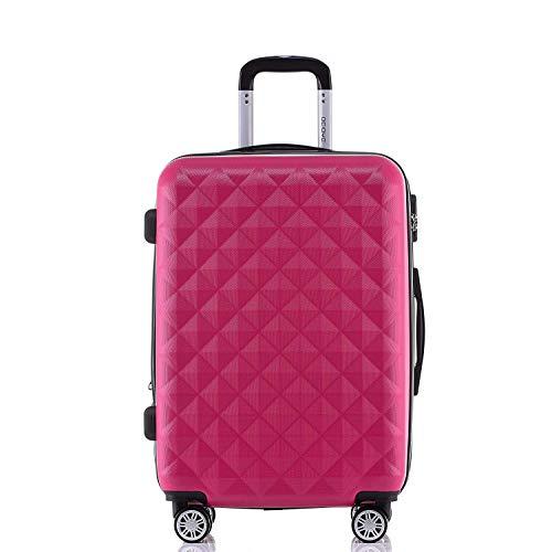 BEIBYE Zwillingsrollen 2066 Hartschale Trolley Koffer Reisekoffer Gepäck M-L-XL-Set (Peach, L)