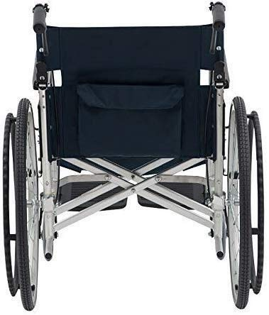 Hyy-yy Discapacitados en silla de ruedas de aluminio silla de ruedas con freno de mano de autopropulsión trasero, Asiento Ancho 44cm, la rueda delantera 6 pulgadas, 22 pulgadas de la rueda trasera, ca