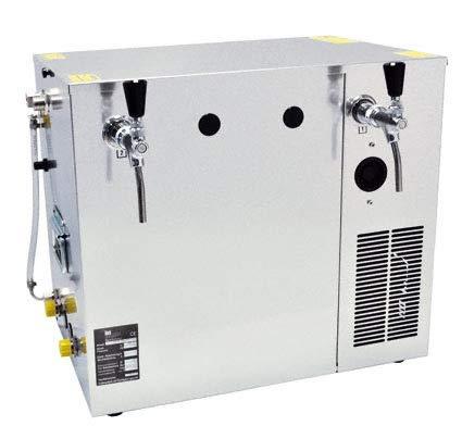 Nasskühlgerät 2-leitig, 100 Liter/h Kombikühlgerät, Begleit- und Durchlaufkühlung in einem Gerät mit Nennweite 10 mm