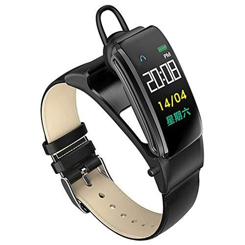FZXL B31 Pulsera Inteligente Auriculares Llamada Música Reproducir Métulo de Ritmo cardíaco Paso Respuesta Teléfono Sleep Monitoring Reloj,B