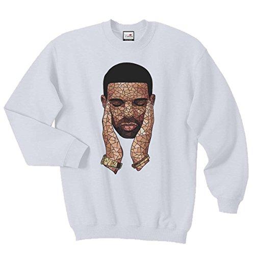 Pure Cotton Drizzy Mosaik Sweatshirt Pullover Gr. S, weiß