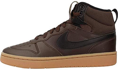 Nike Herren Court Borough MID 2 Boot (GS) Basketballschuhe, Mehrfarbig (Baroque Brown/Black/Gum Med Brown 200), 40 EU