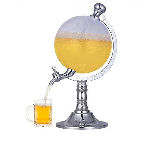 Fetcoi Getränkespender Globus Wasserspender mit Ständer, Mini Globe Bier Dispenser Weinausgießer Zapfhahn Wein Spender Bar Western Restaurant Party Requisiten