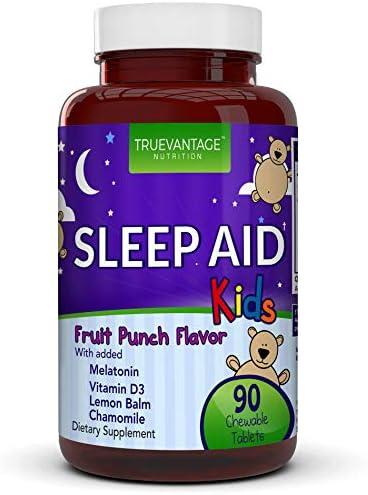 Kids Sleep Aid Naturally Sourced Ingredients with Melatonin Vitamin D Valerian Root Lemon Balm product image