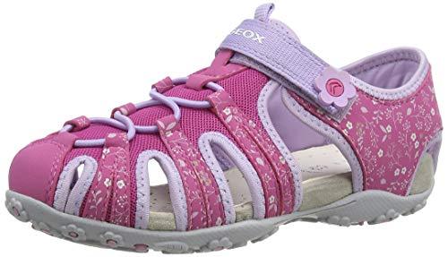 Geox Jungen Mädchen JR Roxanne B Geschlossene Sandalen, Pink (Fuchsia/Lilac C8257), 28 EU