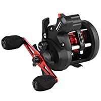 KastKing ReKon Line Counter Trolling Fishing Reel,Round Baitcasting Reels,Size 10,Right Handed