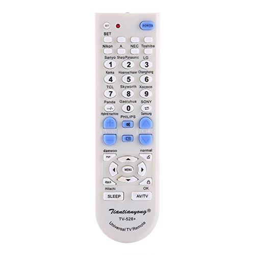 Vbestlife Universal Mando a Disatancia, Reemplazo del Control Remoto de Televisión Inteligente TV para La Mayoría de Los Televisores,Blanco