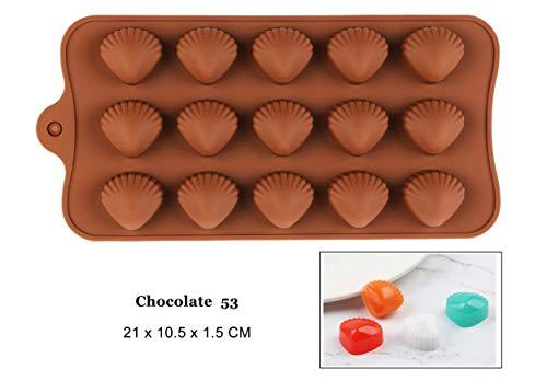 Beste kwaliteit – dit product is bestemd voor thuisgebruik – nieuwe siliconen chocolademold 25 vormen 3D-chocoladebakgereedschap jelly en snoepjes mold doe-het-zelf fruitkitjes gadgets goed – van Rocco – 1 pc Chocolate53