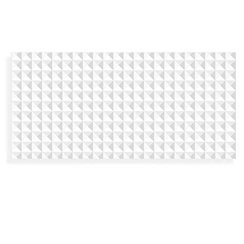 Banjado Wechselscheibe für IKEA GYLLEN Wandlampe | Glasscheibe für Wandleuchte 56x26cm | Echtglas Motiv Waffel Muster | Querformat