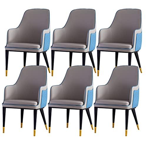 ADGEAAB Juego de 6 sillas de comedor de cocina modernas de cuero...