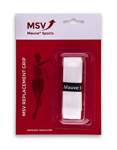 MSV Basic Grip Soft-Tac Embossed Basisgriffbänder, weiß, One Size