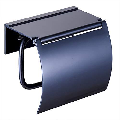 Hwhwxs Badzubehör Toilettenpapierhalter Für Badezimmer,Toilettenpapier Box Freien Stanzen Aluminium Papierhandtuchhalter Toilettenpapierrollenhalter,Blau