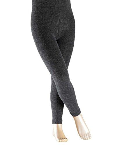 FALKE Kinder Leggings Active Warm, Wollmischung, 1 Stück, Grau (Anthracite Melange 3080), 98-104